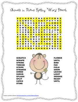 McGraw Hill Reading Wonders © 2nd Grade Unit 2 Week 5 Spelling Word Search