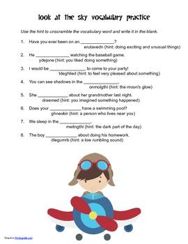 McGraw Hill Reading Wonders © 2nd Grade Unit 3 Week 2 Vocabulary Practice