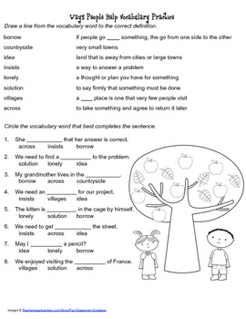 McGraw Hill Reading Wonders © 2nd Grade Unit 3 Week 3 Vocabulary Practice