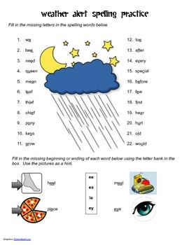 McGraw Hill Reading Wonders © 2nd Grade Unit 3 Week 4 Spelling Practice