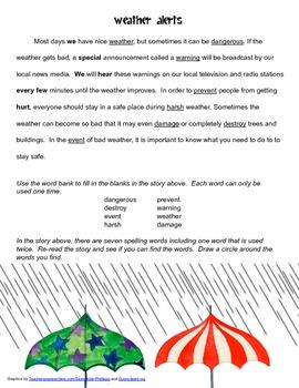 McGraw Hill Reading Wonders © 2nd Grade Unit 3 Week 4 Vocabulary Passage