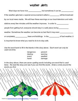 McGraw Hill Reading Wonders © 2nd Grade Unit 3 Week 4 Vocabulary Passage
