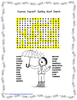 McGraw Hill Reading Wonders © 2nd Grade Unit 3 Week 5 Spelling Word Search