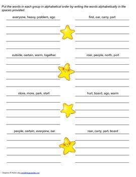 McGraw Hill Reading Wonders © 2nd Grade Unit 4 Week 3 Spelling Practice