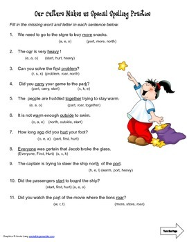 McGraw Hill Reading Wonders © 2nd Grade Unit 4 Week 3 Spelling Practice