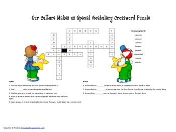 McGraw Hill Reading Wonders © 2nd Grade Unit 4 Week 3 Vocab Crossword Puzzle