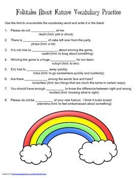 McGraw Hill Reading Wonders © 2nd Grade Unit 4 Week 4 Vocabulary Practice