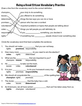 McGraw Hill Reading Wonders © 2nd Grade Unit 5 Week 1 Vocabulary Practice