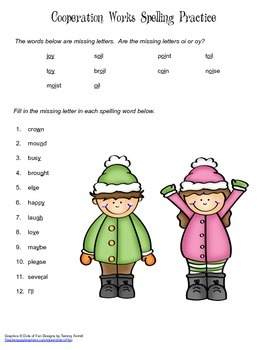 McGraw Hill Reading Wonders © 2nd Grade Unit 5 Week 2 Spelling Practice
