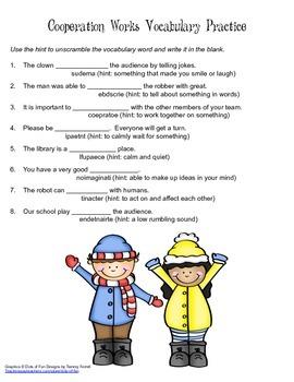 McGraw Hill Reading Wonders © 2nd Grade Unit 5 Week 2 Vocabulary Practice