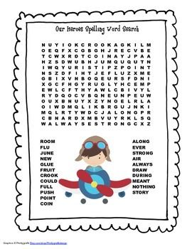 McGraw Hill Reading Wonders © 2nd Grade Unit 5 Week 3 Spelling Word Search