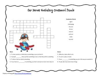 McGraw Hill Reading Wonders © 2nd Grade Unit 5 Week 3 Vocab Crossword Puzzle