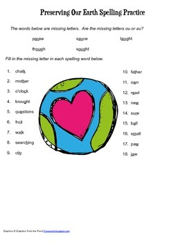 McGraw Hill Reading Wonders © 2nd Grade Unit 5 Week 4 Spelling Practice