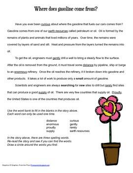 McGraw Hill Reading Wonders © 2nd Grade Unit 5 Week 4 Vocabulary Passage