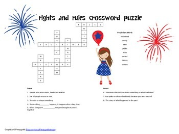 McGraw Hill Reading Wonders © 2nd Grade Unit 5 Week 5 Vocab Cross Word Puzzle