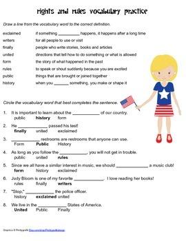 McGraw Hill Reading Wonders © 2nd Grade Unit 5 Week 5 Vocabulary Practice
