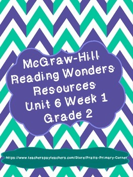 Reading Wonders Unit 6 Week 1 Activities 2nd Grade