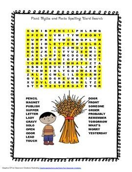 McGraw Hill Reading Wonders © 2nd Grade Unit 6 Week 1 Spelling Word Search