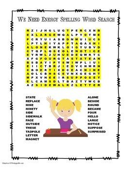 McGraw Hill Reading Wonders © 2nd Grade Unit 6 Week 2 Spelling Word Search