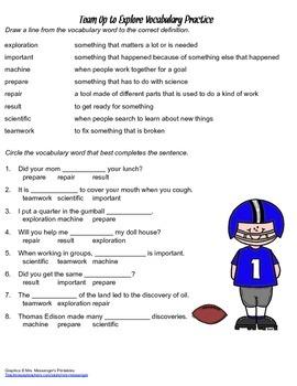 McGraw Hill Reading Wonders © 2nd Grade Unit 6 Week 3 Vocabulary Practice