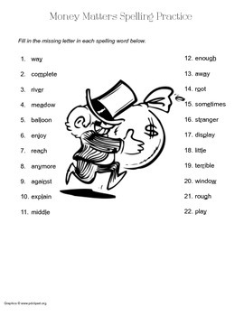 McGraw Hill Reading Wonders © 2nd Grade Unit 6 Week 4 Spelling Practice