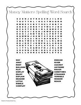 McGraw Hill Reading Wonders © 2nd Grade Unit 6 Week 4 Spelling Word Search