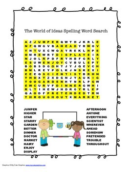 McGraw Hill Reading Wonders © 2nd Grade Unit 6 Week 5 Spelling Word Search