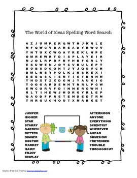 McGraw Hill Reading Wonders © 2nd Grade Unit 6 Week 5 Spelling Word Search