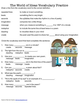 McGraw Hill Reading Wonders © 2nd Grade Unit 6 Week 5 Vocabulary Practice