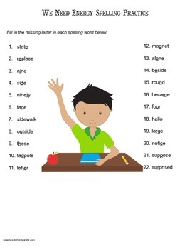 McGraw Hill Reading Wonders © 2nd Grade Unit 6 Week 2 Spelling Practice