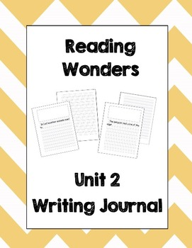 McGraw Hill Reading Wonders 2nd Grade Writing Journal Unit 2