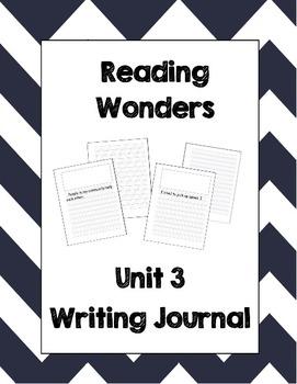 McGraw Hill Reading Wonders 2nd Grade Writing Journal Unit 3