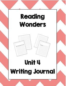 McGraw Hill Reading Wonders 2nd Grade Writing Journal Unit 4