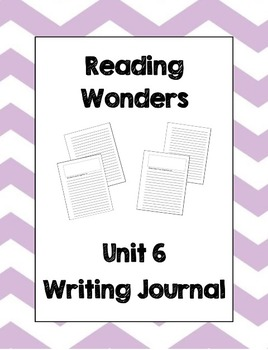 McGraw Hill Reading Wonders 2nd Grade Writing Journal Unit 6