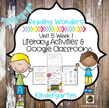 McGraw Hill Reading  Wonders for Kindergarten Unit 5 week 1