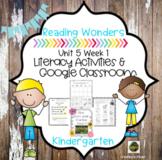 McGraw Hill Reading  Wonders for Kindergarten Unit 5 week 1