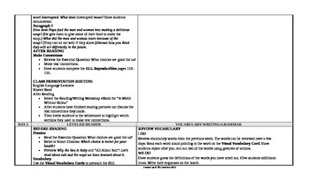 Reading Wonders 3rd Grade UNIT 4 ELL Small Group Plans