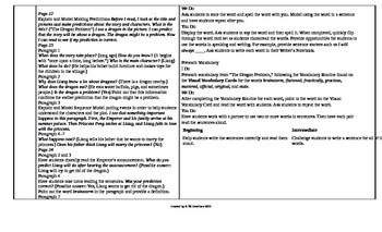 Reading Wonders 4th Grade UNIT 1 ELL Small Group Plans