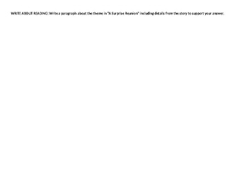 McGraw-Hill Reading Wonders 4th grade skills sheet for Unit 6 Week 1