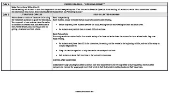 Reading Wonders 5th Grade UNIT 1 Beyond Small Group Plans