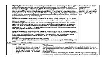 McGraw-Hill Reading Wonders 5th Grade UNIT 1 Intervention Wonderworks Plans