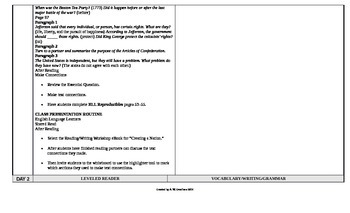 Reading Wonders 5th Grade UNIT 2 ELL Small Group Plans