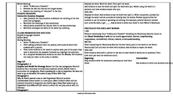 McGraw-Hill Reading Wonders 5th Grade UNIT 3 ELL Small Group Plans