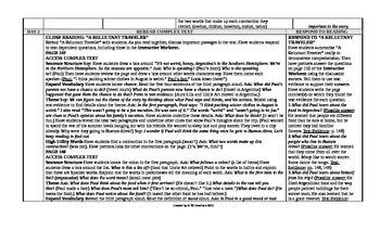 McGraw-Hill Reading Wonders 5th Grade UNIT 3 Intervention Wonderworks Plans
