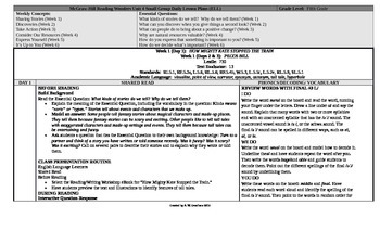 McGraw-Hill Reading Wonders 5th Grade UNIT 4 ELL Small Group Plans