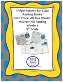 McGraw Hill Reading Wonders 5th Grade Unit 3 Trifold Activ