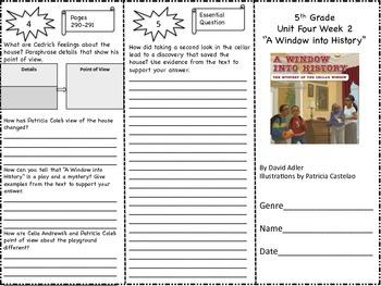 McGraw Hill Reading Wonders 5th Grade Unit 4 Trifold Activity Bundle