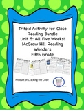 McGraw Hill Reading Wonders 5th Grade Unit 5 Trifold Activ