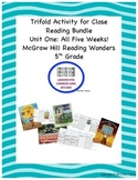 McGraw Hill Reading Wonders 5th  Grade Unit One Trifold Activity Bundle