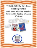 McGraw Hill Reading Wonders 5th Grade Unit Two Trifold Act